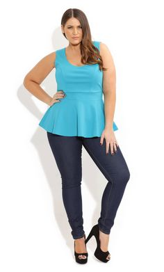 City Chic - Summer Skin Jeans - Women's plus size fashion