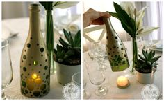 Reuse Wine Bottle as Candle Holder