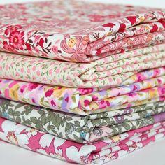Floral Fabric – English classics - liberty pinks poplin bundle x5 – a unique product by blondedesignbiasbinding via en.DaWanda.com