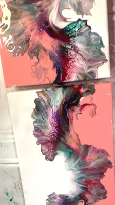 Flow Painting, Diy Painting, Canvas Painting Tutorials, Acrylic Pouring Art, Acrylic Art, Diy Canvas Art, Creative Art, Pastel, Diy Art Projects