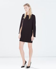 ZARA - WOMAN - CAPE SLEEVED STRAIGHT DRESS
