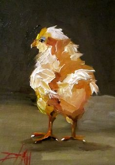 Small Chick, painting by artist Delilah Smith