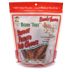 """Sam's Yams Bichon """"Fries"""" Sweet Potato Dog Chewz are delicious, all natural, and made in the USA. Discover the benefits of this super food today. Order now!"""