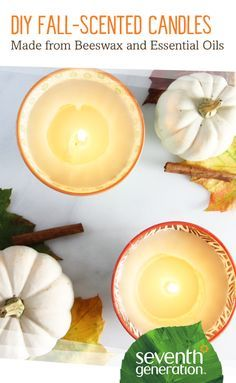 Make your own fall-inspired candles at home! DIY tutorial from Seventh Generation