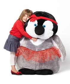 Take a look at this Red Dress Emperor Penguin Chick Jumbo Plush Toy by The Petting Zoo on #zulily today!