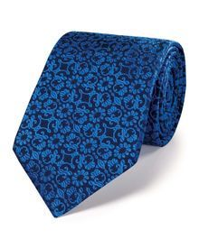 Buy our Blue silk luxury floral tie exclusively from Charles Tyrwhitt of Jermyn Street, London. Luxury Ties, Charles Tyrwhitt, Designer Ties, Tie Knots, Business Outfits, Floral Tie, Fashion Accessories, Menswear, Mens Fashion