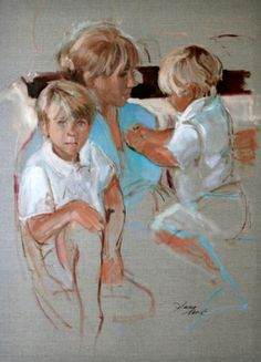Susan Mauck Fine Art - paintings. This is what it's all about. Just love those boys:) beautiful portrait