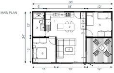 miniHome Duo 36+24 prefab home - floor plan.
