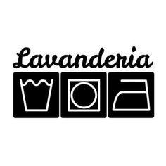 Adesivo De Parede Lavanderia 02 Hous For Fun