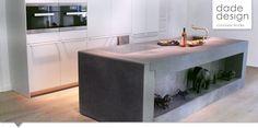 Massive Betonküche in anthrazit von www.dade-design.com  Projekt: Bulthaup Spittelberg Wien
