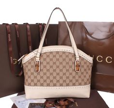 214217782d1 Gucci Laidback Crafty Canvas Top Handle Bag 339002 OffWhite