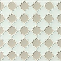 Found it at Wayfair - Mallorca Glass Flora Mosaic Tile in White Linen and Mist