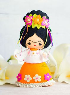 PDF Pattern. Frida Kahlo doll by Noialand on Etsy
