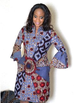 Latest Ankara Short Gown Styles 2018 Pictures of the latest and most beautiful ankara short gown styles 2018 is what this post . Ankara Styles For Women, Ankara Short Gown Styles, Short Gowns, African Dresses For Women, African Print Dresses, African Attire, African Wear, African Fashion Dresses, African Women