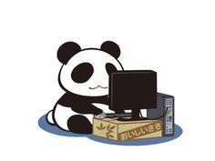 :), panda,