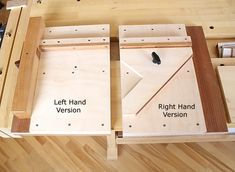 I like the simple 45 degree board bolted into the shooting board with a simple threaded insert and a handle with a bolt epoxied into it. Woodworking Pipe Clamps, Woodworking Bench For Sale, Woodworking Courses, Woodworking School, Youtube Woodworking, Woodworking Books, Learn Woodworking, Woodworking Magazine, Woodworking Projects