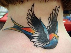 Swallow is one of the most popular tattoo designs. The tradition of getting swallow tattoos dates back to ancient times when sailors used to get these done. This beautiful bird represents hope to come back.