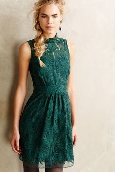 Love this hunter green lace dress from #Anthropologie Summer Hairstyles, Green Dress, Green Lace, Anthropologie, Fashion Mode, Fashion Outfits, Womens Fashion, Fashion 2016, Fashion Beauty