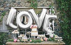 B-G 32  LOVE Balloon Set Bridal Shower Party Birthday Vow Renewal Wedding Decoration (Silver) - https://www.partysuppliesanddecorations.com/b-g-32-love-balloon-set-bridal-shower-party-birthday-vow-renewal-wedding-decoration-silver.html