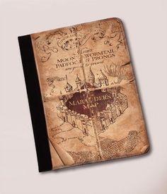 Harry Potter Marauders Map Leather iPad Case - http://geekarmory.com/harry-potter-marauders-map-leather-ipad-case/