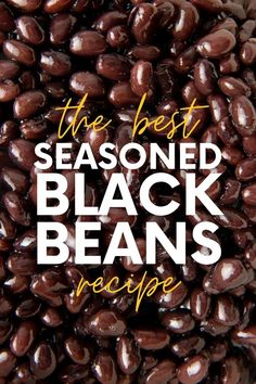 Cooking Dried Beans, Cooking Black Beans, Healthy Eating Recipes, Eating Vegan, Healthy Snacks, Vegan Recipes, Instant Pot Dinner Recipes, Side Dish Recipes, Seasoned Black Beans Recipe