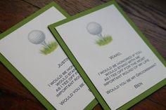 Will You Be My Groomsman Golf Invitation #withluvdesign #groomsman #golf #invitation