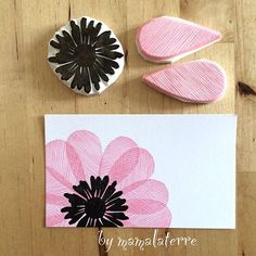 Stamp Carving + Journal Making - the beehive Stamp Printing, Printing On Fabric, Diy And Crafts, Arts And Crafts, Paper Crafts, Foam Crafts, Fabric Crafts, Stamp Carving, Handmade Stamps