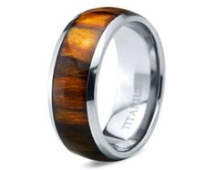 Titanium Wedding Band,Mens Wedding Band,Koa Wood Band,Mens Ring,Custom Made,Rings,Bands,Blakwood,Hawaiian,8mm,Handmade,Mans,His Hers,Size