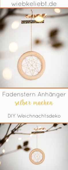 Creative DIY idea for DIY and handicrafts for Christmas. You can find the instructions for the DIY t Diy Blog, Diy Schmuck, Diy Weihnachten, Star Pendant, Handicraft, Christmas Diy, Hoop Earrings, Creative, Jewelry