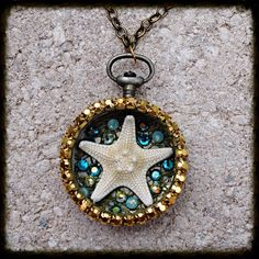 Starfish Swarovski Crystal Vintage Pocket by glamourpusscouture