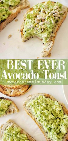 Simple Avocado Toast that is quick easy and delicious avocado avocadorecipe breakfast breakfastrecipe vegetarian vegetariantoast smashedavocado easyavocadotoast breakfasttoast easy recipe vegetarianrecipe sweetcaramelsunday Breakfast Desayunos, Avocado Breakfast, Breakfast Recipes, Dinner Recipes, Simple Avocado Toast, Avacado Toast, Simple Avocado Recipes, Avocado Toast Recipe Vegan, Avocado Recipes Vegetarian