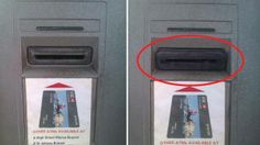 """THE LEFT SIDE....is the normal slot for an ATM card, the protruding one on the right is called a """"skimming device."""" Crooks can slide these into almost any ATM - wait for a customer to use it - and then, it stores their information. Would you notice the difference? Look at the slot before you insert your card into any ATM machine..make sure it does not look tampered with!  Please click share so we can get the word out fast and stop these crooks in their path!!    To SAVE this, be sure to ..."""