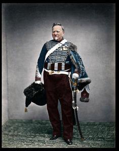 Napoleon's Grande Armée veteran - Quartermaster Sergeant Delignon wearing the uniform of a Mounted Chasseur of the Guard, served 1809 - 1815 British Soldier, British Army, Le Colonel Chabert, Pictures Of Soldiers, Military Costumes, Military Uniforms, First French Empire, American Civil War, American History