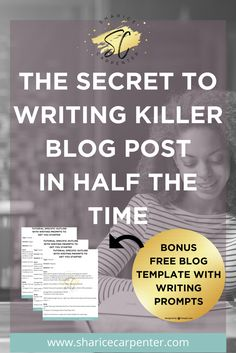 What if I could help you write a blog post in half the time? My go to template and writing prompts will get you writing fast. via @ShariceEnis