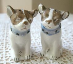 SALE Vintage Dog Salt and Pepper Shakers by Vintagegirlsfinds