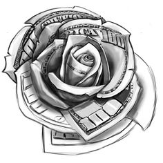 100 Dollar Bill Rose Rose Tattoos Pinterest Tattoos Rose