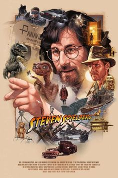 This is my STEVEN SPIELBERG poster tribute done as private commission. Spielberg is my all time favorite director, so I really enjoyed painting this piece. Best Movie Posters, Movie Poster Art, Steven Spielberg Movies, Alternative Movie Posters, Polychromos, Geek Art, Love Movie, Cultura Pop, Old Movies