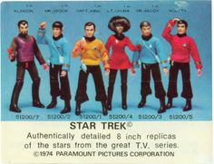 Star Trek Replicas - Mego Action Figures, I had most of these as a kid :)