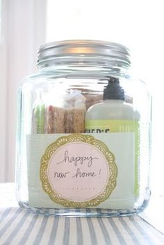 Someone has a new home! Maybe it's a friend or relative or you may have a new neighbor! This jar will be perfect for their new kitchen or laundry/mudroom and they will love Mrs. Meyer's products.  When giving a gift, if it's something you love, chances are your friend will too.  That's the art of gift giving! This site has creative gift ideas for every occasion.