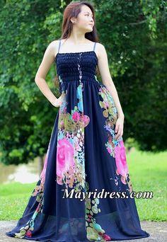 Navy Blue Dress Prom Maxi Dress Casual Dress Plus Size Dress Summer Sundress Beach