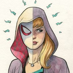 Finally got to use that Cobalt Green #watercolor I bought so long ago. #SpiderGwen via Instagram http://ift.tt/2dyvk8d