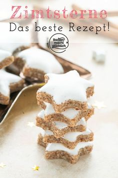 The best cinnamon star recipe Baking makes you happy - It is not without reason that cinnamon stars are one of the most popular types of Christmas cookies - Easy Cookie Recipes, Cupcake Recipes, Baking Recipes, Dessert Recipes, Best Christmas Cookies, Christmas Baking, Cinnamon Stars Recipe, Cinnamon Cookies, Roasted Walnuts