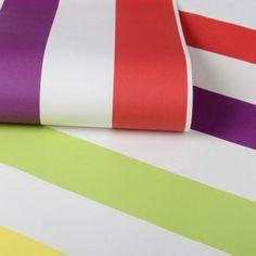 Graham & Brown Kids Girls Boys Bright Multi Coloured Stripe Wallpaper | Debenhams