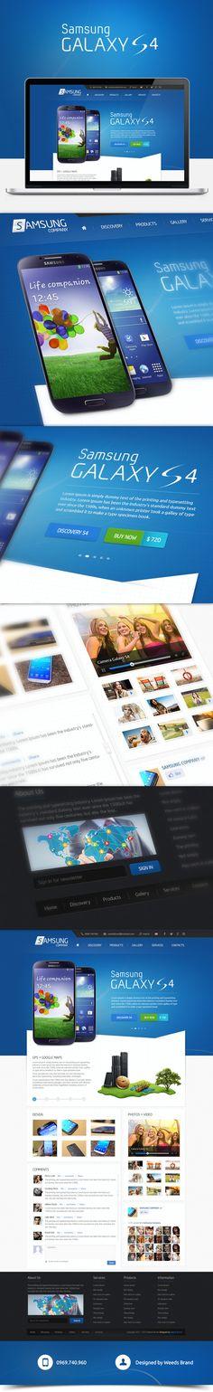 Samsung Galaxy S4 Website | Designed by Weeds Brand on Behance