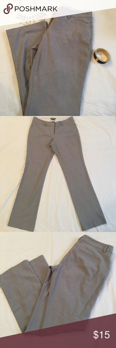 Express Editor 4S Gray Slacks Forget black; rock these essential gray slacks to work. Features two front and two back pockets. Excellent condition. size 4S Express Pants Trousers