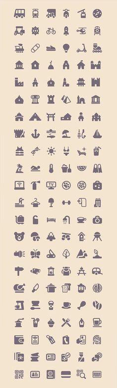 Freebie: Tourism & Travel Icon Set (100 Icons, PNG, SVG) (2.3 MB) | smashingmagazine.com