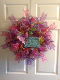 Another spring wreath I just made for special order..by Debbie Snyder