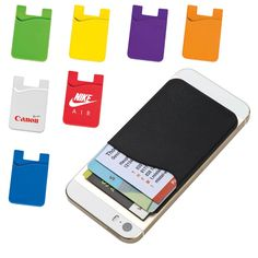 Silicone Cell Phone Card Holder- Corporate Gift SA. #cellphone #cover #silicone