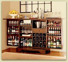 Lindo Bar y Practico para la casa, es una buena idea..