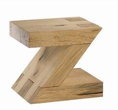 Solid oak 'Z' stool